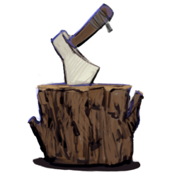 axe-stump